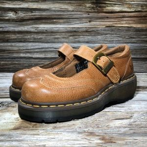Dr. Martens Sabina Mary Jane Brown Women's 7